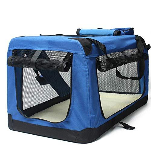 QKEMM Haustier Tragetasche Hunde Transportbox Katze Auto Hundekäfig ausklappbar Transporttasche für Haustier für Reisen…