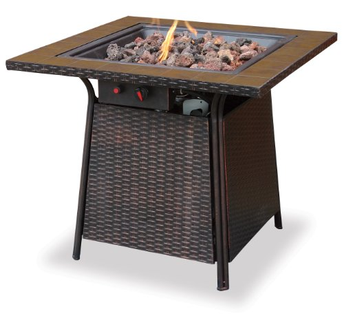 Endless Summer, GAD1001B, LP Gas Outdoor Firebowl with Tile Mantel (Propane Fire Pit Wicker compare prices)