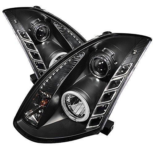 Spyder Auto PRO-YD-IG35032D-CCFL-DRL-BK Infiniti G35 Black CCFL DRL LED Crystal Headlight