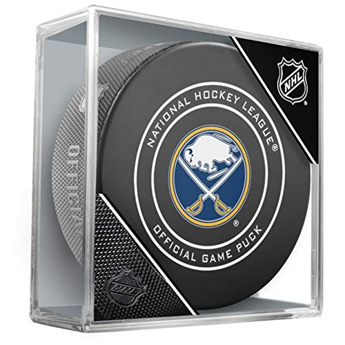 best value 5498a 09e6f NHL Buffalo Sabres Official Game Hockey Puck with Holder