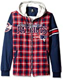 New England Patriots Flannel Hooded Jacket - Mens Large