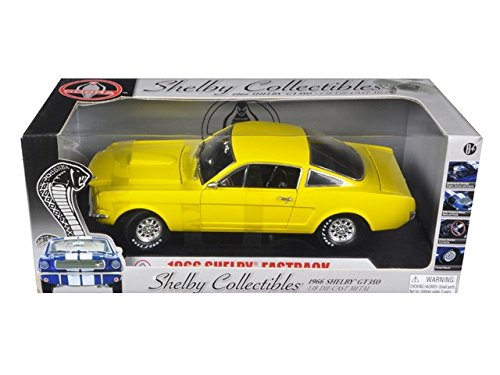 1966 Ford Shelby Mustang GT 350 Fastback Yellow 1/18 -  SHELBY COLLECTIBLES, 175-1