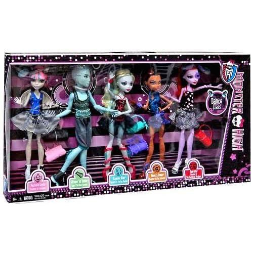 MONSTER HIGH PACK 5 poupées GIL WEBBER ROCHELLE OPERETTA ROBECCA LAGGONA série DANCE CLASS