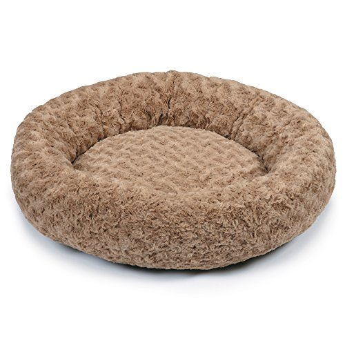 Slumber Pet Swirl Plush Donut Beds  -  Soft and Cozy Donut-S