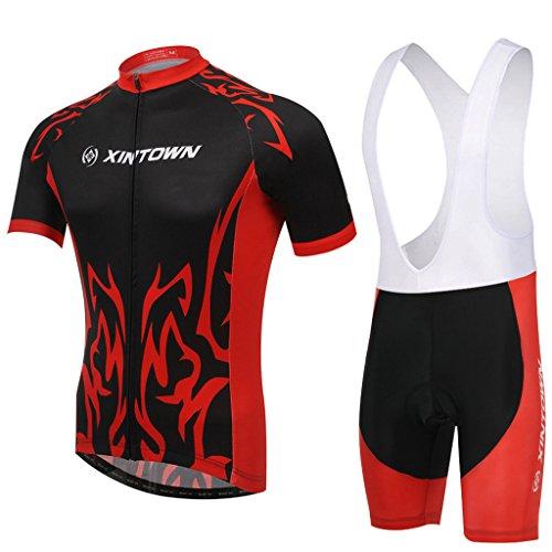 Skysper- Männer Stilvolle Comfortable Cycling Clothing Set Short Sleeve Radsportbekleidung + Fahrradhose
