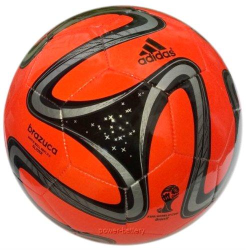 Adidas Fußball Brazuca Glider, WM 2014 Fußball, warning-rot/schwarz/silber, 5, S04468