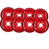 Revision Wheels Inline Roller Hockey Variant Soft Red 76mm 80mm 74A Hilo Set