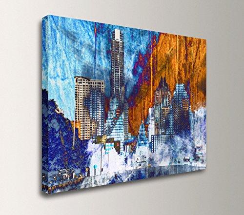 ''Austin Daybreak'' - Downtown Austin, Texas Skyline Artwork by The Modern Art Shop