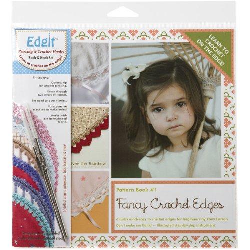 - Ammees Babies EDGIT-E101 Edgit Piercing Crochet Hook and Book Set, Fancy Crochet Edges