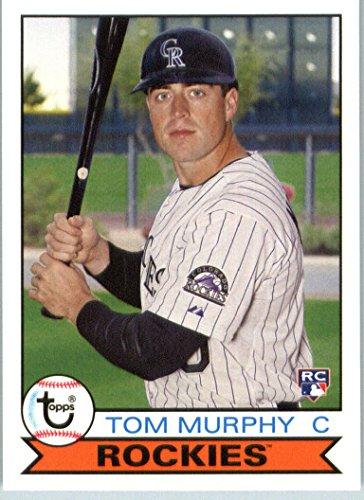 2016 Topps Archives #174 Tom Murphy Colorado Rockies RC Baseball Rookie Card in Protective Screwdown Display (174 Tom)