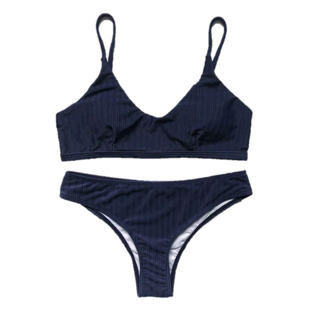 304899be76b7 Bikinis Mujer 2019 Push up LANSKIRT bañador Transpirable de Color ...