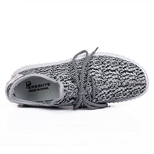 Walking for Sneakers Sports Casual Womens Athletic Unisex Fashion Shoes Gray Breathable 197 fereshte Gym Mens Rwz0qxB0