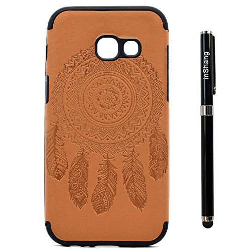 inShang Funda para Samsung Galaxy A3(2017) suave TPU Carcasa Cajas Soporte Skin case cover Para Galaxy A3(2017) + clase alta 2 in 1 inShang marca negocio Stylus pluma Brown chimes