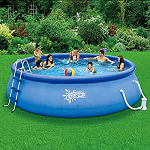 Summer escapes above ground family swimming for Above ground pools quick set