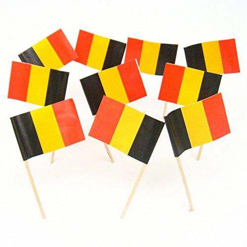 Belgium   Belgian Flag Toothpicks (100) (Chocolates Belgian Red)
