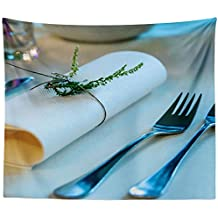 Westlake Art - Table Cutlery - Wall Hanging Tapestry - Picture Photography Artwork Home Decor Living Room - 68x80 Inch (6B3FD)