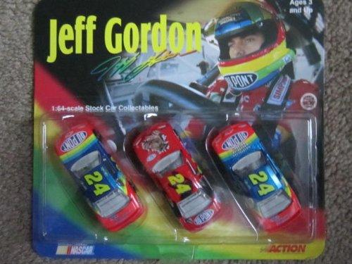 Jeff Gordon 3 Car Set 1:64 Scale Stock Car Collectables by NASCAR