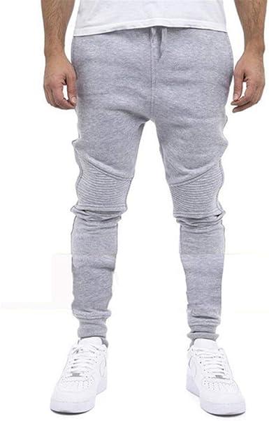 Sylar Pantalones De Chándal Hombre Color Sólido Cintura Elástica ...
