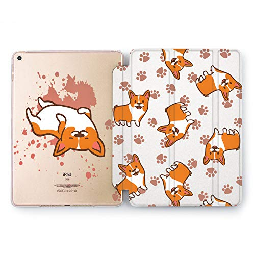 Wonder Wild Corgi Paws Apple New iPad Case 9.7 inch Mini 1 2 3 4 Air 2 10.5 12.9 2018 2017 Dog Orange Texture Stand Print Animals Watercolor Kawaii Print ()