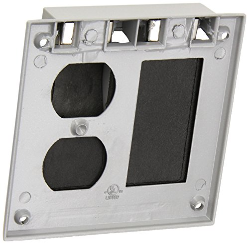 Morris 37220 1 GFCI and 1 Duplex Receptacle 2-Gangs Weatherproof Cover by Morris (Image #2)