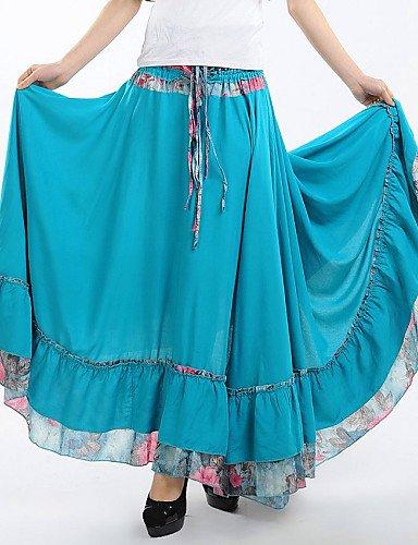 ZH Bohème Roman dulce larga falda floral Mignon de mujeres (techo ...