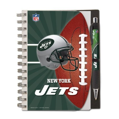 - New York Jets Deluxe Hardcover, 5 x 7 Inches Notebook and Pen Set, Team Colors (12024-QUT)