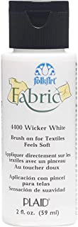 product image for FolkArt, Wicker White 4400 Fabric Brush On Acrylic Paint, 2 oz