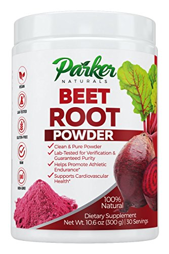 Beet Juice Benefits (100% Natural Beet Root Powder | Superior Beet Juice by Parker Naturals. Big 300 Grams/30 Servings Natural Anti-inflammatory, Better Heart Health, Improved Athletic Endurance Supports Nitric Acid Level)
