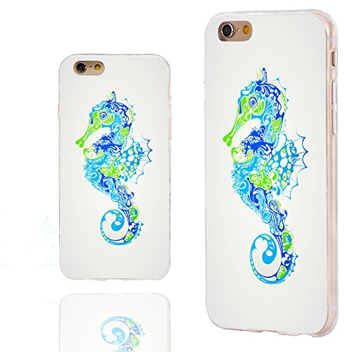 - iPhone 6s Case,iPhone 6 Case,ChiChiC 360 Full Protective Shockproof Slim Flexible Soft TPU Art Design Cover Cases for iPhone 6 6s 4.7 Inch,cartoon marine animal seahorse sea horse nautical