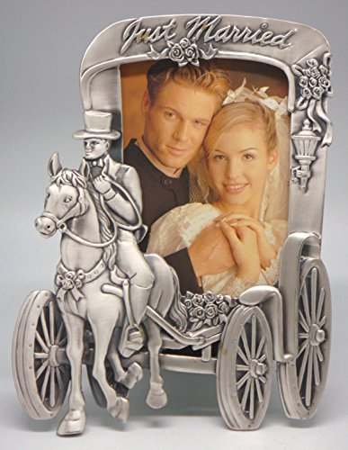 Glory Land 3½×5 'Just Married' Horse & Carriage Photo Frame