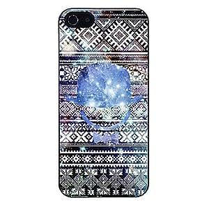 SHOUJIKE Blue Blinking Hat Pattern Aluminous Hard Case for iPhone 5/5S