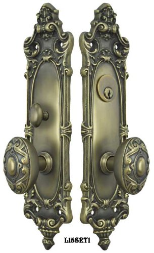 Victorian Rococo Yale Pattern Entry Door Set L15set1 Door