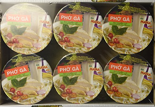 Mama Pho Ga (Chicken Noodle Soup) 6 Bowls in a Packs
