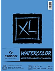 Pro-Art 702-2445 9-Inch by 12-Inch Canson Watercolor Paper Pad, 30-Sheet, X-Large