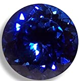 Lab Sapphire Round Brilliant Loose Unset Gem (9mm, deep blue) click for more options