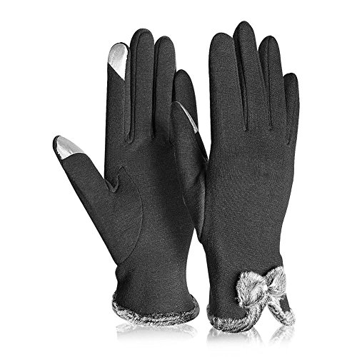 Winter Gloves Touch Screen Gloves Texting Gloves Warm Casual Mittens for Women - Kay Boya (Black 1)