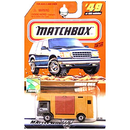 (Matchbox 2000 Farming Horse Box Trailer Truck with Horses Inside)