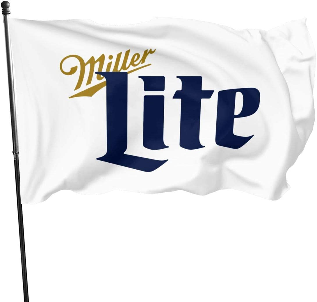 Haini Miller Lite Flag,3x5 Feet Outdoors Spring Summer Welcome Yard Decor Decoration Polyester Garden Flag