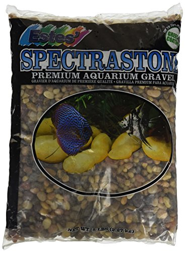 Estes Aquarium Gravel - Spectrastone Swift Creek for Freshwater Aquariums, 5-Pound Bag