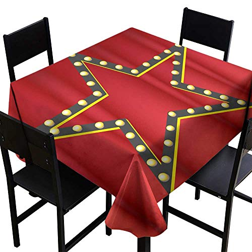 crabee Table Cover for Kitchen Movie Star Premiere,W36 x L36 Square Tablecloth