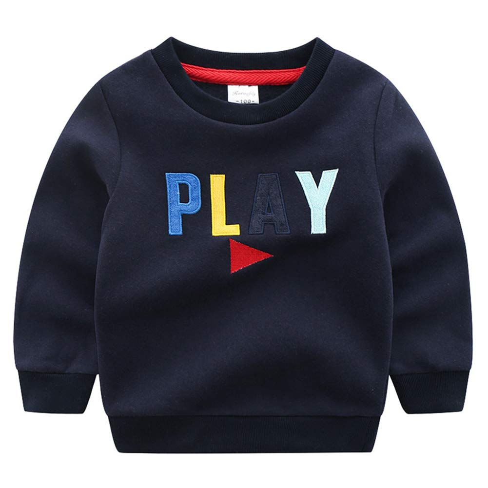 AIKSSOO Little Boys Casual Outfit Sweatshirt Letters Sport Cotton Tops Shirt