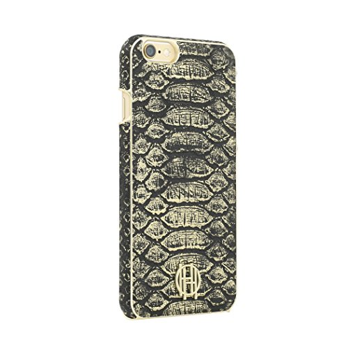 iPhone 6s Case, House of Harlow 1960 Black, Gold Metallic Snake Print Designer Cover fits iPhone 6, iPhone 6s - Black/Gold