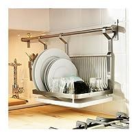 Escurridor de platos Ikea Grundtal, acero inoxidable, plata