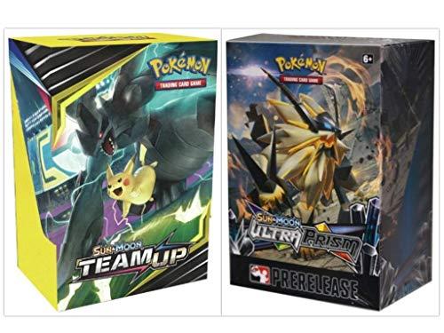 Pokémon TCG Sun & Moon Team Up Prerelease Kit + Sun & Moon Ultra Prism Prerelase Kit Pokémon Trading Card Game Bundle, 1 of Each