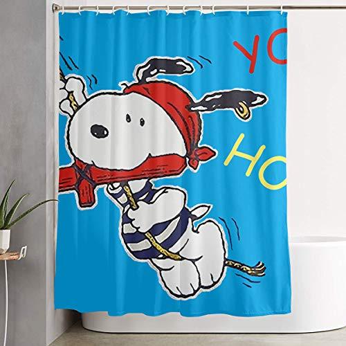WSXEDC Shower Curtain Yo Ho Snoopy Waterproof Curtain 60 X 72 Inches ()