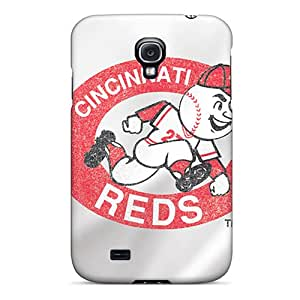 IanJoeyPatricia Samsung Galaxy S4 Shock-Absorbing Hard Phone Covers Provide Private Custom Stylish Cincinnati Reds Series [cxT2878LwAb]