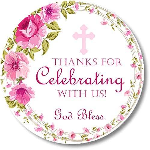 BAP9 Pink Floral Baptism Favor Tag Template Set God Bless Favor Tag Baptism for Girl Printable Favor Tag Editable Pink Floral Gift Tag