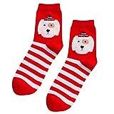 AMSKY Clearance! Socks For Women Low Cut No Show,Winter Girls Print Cartoon Red Mid Tube Socks Cotton Sock Chrismas Xmas,Women's Sweaters