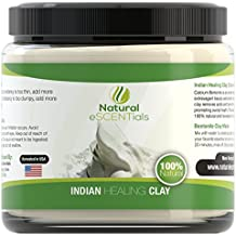 Calcium Bentonite Indian Healing Clay Powder - Deep Cellular Healing - Detox, Cleanse, Restore – FREE eBook with Mask and Body Wrap Recipes Included