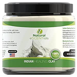 Calcium Bentonite Clay Powder - Deep Cellular Healing - Detox, Cleanse, Restore – FREE Mask and Body Wrap Recipes Included